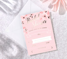 Pink & Gold Bridal Shower Invitations