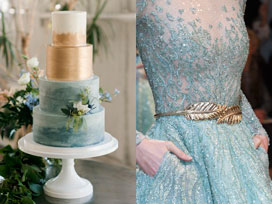 Wedding Color Inspiration – Dusty Blue and Champagne