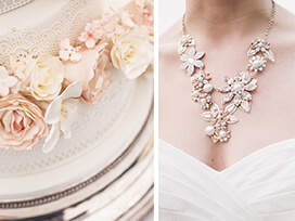 Hot Wedding Trends: Blush, Gold and Pearled White