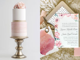 Wedding Color Inspiration – Blush Pink and Gold
