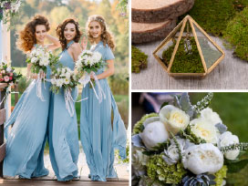 Wedding Color Inspiration – Emerald Green and Teal