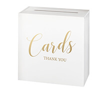 White Wooden Wedding Card Box