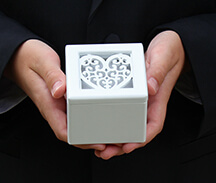 White Filigree Heart Pattern Ring Box