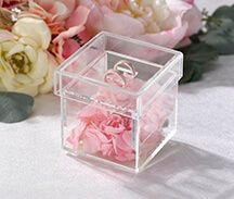 Clear Acrylic Ring Box Ring Pillow Alternative