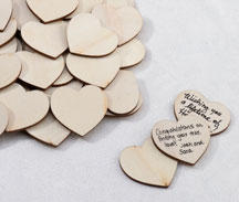 Wood Signing Hearts