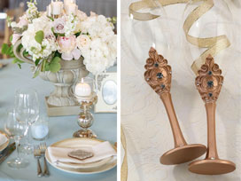 Hot Wedding Trends: Soft Pastels with Metallic Gold